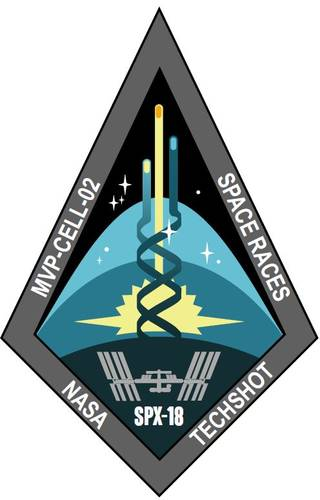 Patch design commemorates the collaboration between NASA and Techshot on the MVP-Cell-02 space experiment